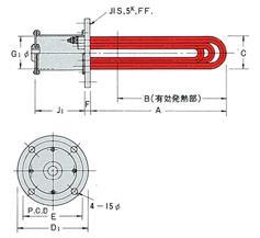 プラグヒーター・フランジヒーター(防爆対応可能) 液体・気体の加熱・保温に最適。熱効率100% 防爆仕様トレースヒーターなど、各種対応  シーズヒーターと取付金具(フランジ等)の組合せによる、最もシンプルなヒーターです。 液体・気体・低温溶融金属等の加熱体として、直接加熱物に投入加熱する熱効率の高いヒーターです。  プラグヒーター:液体に浸して使用するネジ込み式のヒーター フランジヒーター:シーズヒーターをU字加工し、板フランジに溶接したヒーター 防爆仕様も含む柔軟なカスタム製作 日本電熱では、シーズヒーターからの一貫製作により、多種多様な材質にて、大型熱交換器におよぶまで、柔軟にカスタム製作対応可能です。 マイカ系ヒーター、防爆仕様トレースヒーター等、各種対応しております。 熱電対および温度制御装置、システムアップに付きましても、カスタム仕様にあわせてご提案が可能です。  プラグヒーター(フランジヒーター) プラグヒーター フランジヒーター(プラグヒーター) フランジヒーター プラグヒーター プラグヒーター 製品特徴 熱効率100% 液体の中に直接ヒーターを投入するため、熱効率100%です。 投込みヒーターは2タイプ 投込みヒーターはメッキ槽のように上部から投げ込んで使用するものと、タンクなどの側面、または底面よりフランジで取り付ける2タイプがあります。 用途別に各種ご用意 フランジ式、ねじ込み式、上部からの投入式など、用途別に取り付け方法に対応し、各種ご用意が可能です。 端子保護キャップも各種ご用意 端子保護キャップの構造については防爆対応構造、防滴型、その他の特殊なキャップも取り付けが可能です。ご相談ください。 特殊材質パイプに対応 特殊材質のパイプも製作が可能です。ご相談ください。  防爆対応など特殊規格に対応 熱媒ボイラー、蒸気ボイラー、各種槽内の液体加熱、熱交換器、圧力容器、防爆型電気加熱器の熱源など、ご希望に応じて製作可能です。 製品の導入分野 家電製品電気釜、オーブン・レンジ、アイロン、電気ポット、ホットプレート等 業務用装置電気窯、オーブン、電気炉、鋳込みパーツ、プレス常盤、空調/冷暖房装置、厨房機器等 産業用機器タンク加熱、薬液加熱・保温、低融点金属溶解、押出し成型機、バルブ/配管保温・加熱 加熱・保温石油化学他工業用途(パイプライン・貯蔵タンクの配管・水道管・排水管・機器/装置類の保温、凍結防止、霜取り等) 半導体・液晶系製造工程、医薬品製造工程、医化学機器、鉛・ハンダ・亜鉛・アルミ等の溶解・加温(押出しビレット等の加熱)等 乾燥塗装・木材・食料品・農林畜産・生ゴミ・汚泥等 その他金属体への密着・埋め込み・鋳込み ヒートシールバー、プレス熱板、T-ダイ、諸機械、医療機器、光学機器、金型、LABO機等 押出し機シリンダー加熱等円筒形状物への加熱 薬液槽加熱等、ストリップヒーターを貼り付けて加熱等 熱板への組込み可能 製品の用途例 プラグヒーター・フランジヒーター(底側面に装着) 底側面に装着 ヒーターを底側面に装着し液体の直接加熱を行います。 プラグヒーター・フランジヒーター(二重タンクによる間接加熱) 二重タンクによる間接加熱 直接投入不可能な液体加熱の場合は、二重タンクにて間接加熱します。 プラグヒーター・フランジヒーター(温水器) 温水器 熱いお湯を手軽に供給できる温水器となります。 プラグヒーター・フランジヒーター(タンク上部の活用) タンク上部の活用に ヒーターをタンクの底部にまとめて取付ければ、上部は自由に使えます。 プラグヒーター・フランジヒーター(パイプ内の液体加熱) パイプ内の液体加熱 配管されたパイプの途中に挿入して、パイプ内の液体を加熱します。 プラグヒーター・フランジヒーター(半田溶融槽用) 半田溶融槽用 耐蝕性被覆や鋳込式構造による用途の一例で半田溶融槽用に使用されているヒーターです。 プラグヒーター・フランジヒーター(熱媒油、重油ボイラー等に投込み加熱) 熱媒油、重油ボイラー等 熱媒油、重油ボイラー等のタンクにも安全に高性能な加熱を行います。 プラグヒーター・フランジヒーター(投込み加熱) 投込み加熱 タンク上部より投入して加熱出来ます。ヒーターは底部のみでなく、立上り部の発熱も可能です。 プラグヒーター、フランジヒーター(熱媒油加熱用ヒーター) 熱媒油加熱用ヒーター 熱媒油加熱用ヒーター。ご希望に応じ製作いたします。(フランジヒーター) プラグヒーター、フランジヒーター(丸型タンク加熱) 丸型タンク加熱 最適な金属を保護パイプとして使用し、液体・薬品による侵食の不安もありません。 プラグヒーター・フランジヒーター(蒸気発生装置) 蒸気発生装置 蒸気発生装置等に使用される温水用ヒ