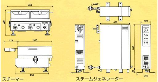 寸法図(『スチームロボ』蒸気解凍調理機)